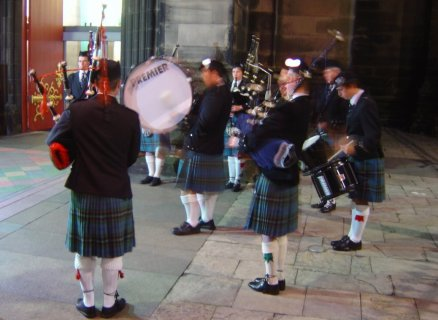 Pipers on the streets of