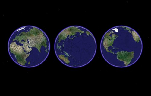 3 view of the Earth from space