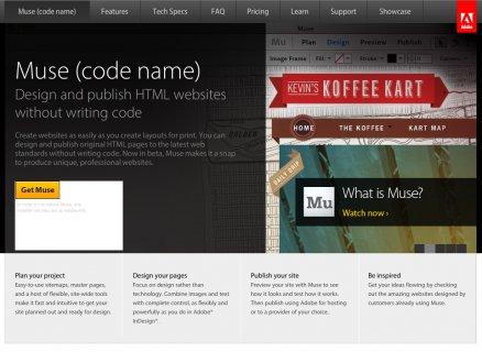 Adobe Muse Design and publish