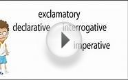 4 types of sentences declarative interrogative imperative