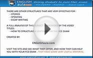 FCE EXAM- WRITING: SENTENCE STRUCTURE
