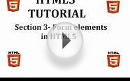 HTML5 Tutorial (Section 3-New Elements/Features in HTML5