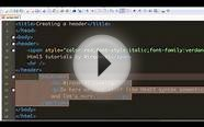 Html 5 tutorial - 08 - Section element.mp4