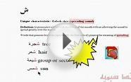 Introduction to Arabic linguistics: Lesson 31 - Meanings