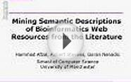 Mining Semantic Descriptions of Bioinformatics Web