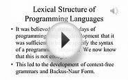 Principles of Programming Languages Lecture 3 Part 1