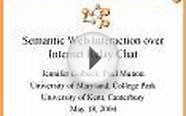 Semantic Web Interaction over Internet Relay Chat