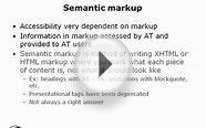 Understanding consistency and semantic markup